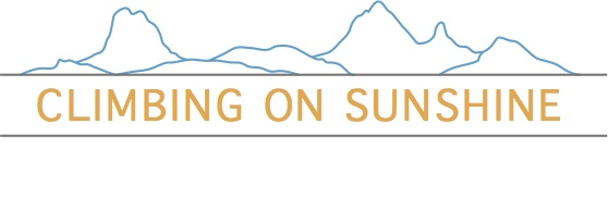 Climbing on Sunshine Colour Line Logo
