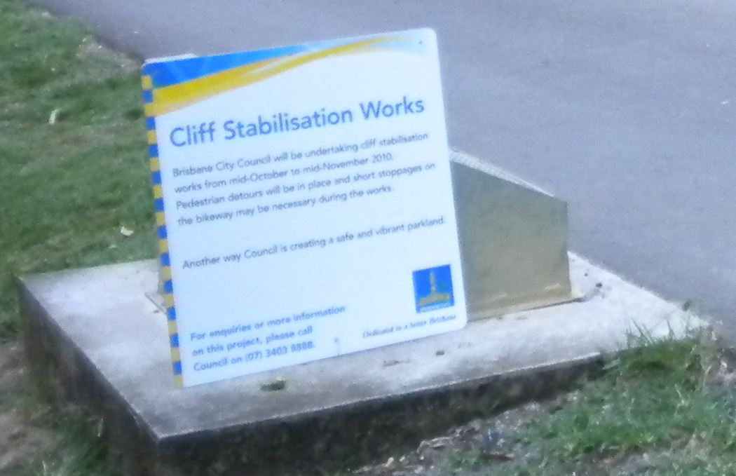 Cliff Stabilisation Notice
